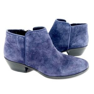 Sam Edelman Suede Blue Heeled Booties Size 6.5